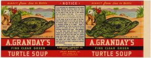 Granday's Turtle Soup Label